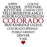 Colorado love.  Let's see... I've been to all these places except Cortez, Canon City, Telluride, Durango, Salida, and Pueblo :D