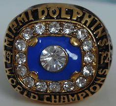 1972 Miami Dolphins Super Bowl ring