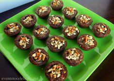 Caramel Filled M&M Brownie Bites #BakingIdeas #shop #cbias