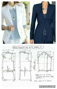 Sewing Patterns - Coat Patterns - Jacket Patterns - Bolero Pattern - Skirt Patterns - Blazer Pattern - Sewing Tutorials - Sewing E-book Coat Patterns, Dress Sewing Patterns, Sewing Patterns Free, Clothing Patterns, Blazer Pattern, Jacket Pattern, Costura Fashion, Sewing Blouses, Sewing Coat