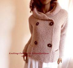 Muster stricken Kapuzen Damen Jacke Pullover von PillandPattern