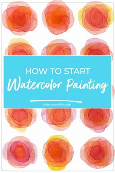Learn how to start watercolor painting with this easy introduction to watercolors for beginners. Learn how to start watercolor painting with this easy introduction to watercolors for beginners. Watercolor Beginner, Watercolor Paintings For Beginners, Watercolor Projects, Watercolor Tips, Beginner Painting, Watercolour Tutorials, Watercolor Techniques, Watercolour Painting, Watercolor Cards
