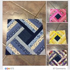 Crochet ideas that you'll love Denim Quilt Patterns, Jelly Roll Quilt Patterns, Bag Patterns, Quilting Projects, Quilting Designs, String Quilts, Scrappy Quilts, Denim Quilts, Small Quilts