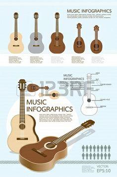 infographic muziek van gitaar set Stockfoto - 13834491