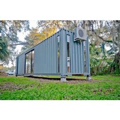 THE HAB TINY CONTAINER HOME | THE CASA CLUB Converted Shipping Containers, Cargo Container Homes, Container Office, Shipping Container Home Designs, Storage Container Homes, Building A Container Home, Container Cabin, Container Buildings, Container Architecture