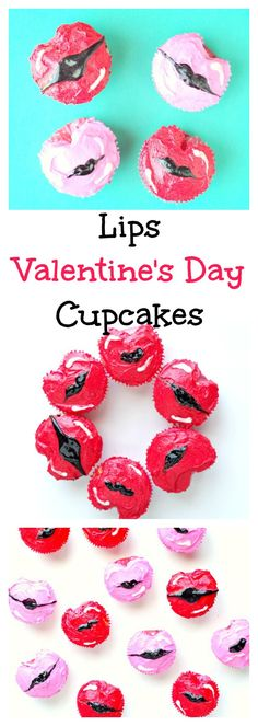 Lips Valentine's Day Cupcakes