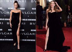 Angelina Jolie vs Bella Hadid: cine poarta mai bine rochia neagra?