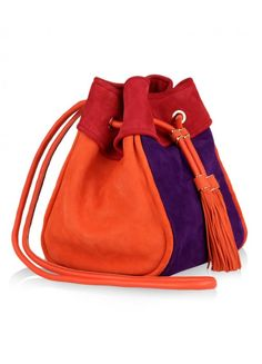 Salvatore Ferragamo women hayley suede drawstring bag 2 580x805