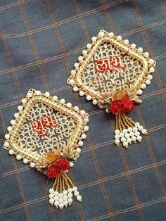 For order contact 9686232844 Diwali Decoration Items, Diya Decoration Ideas, Desi Wedding Decor, Floral Wedding Decorations, Diwali Diya, Diwali Craft, Door Hanging Decorations, Acrylic Rangoli, Rakhi Making