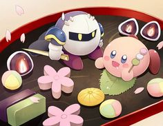 The awkward moment you realize that Meta Knight is cuter than Kirby.