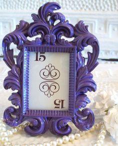 WEDDING TABLE NUMBERS FramesSmall Ornate Vintage by shabbymcfabby, $10.00