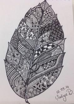 A zentangle leaf