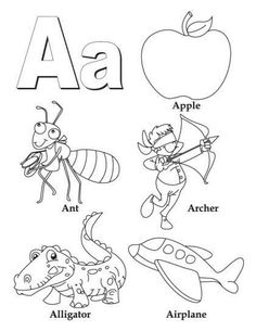 Letter A Coloring Pages, Coloring Letters, Printable Coloring Pages, Coloring Sheets, Coloring Pages For Kids, Free Coloring, Coloring Books, Coloring Worksheets, Colouring