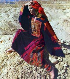 1970s Ethnic Afghan caftan dress