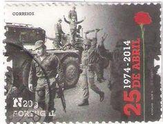 Revolução 25 de Abril de 1974/ Portuguese revolution which took place on April 25, 1974; Liberdade/ Freedom