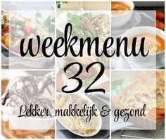 Lekker, makkelijk en gezond weekmenu – week 32 met deze week een zomerse salade, Italiaanse klassieker en een heerlijke quiche. Meals For The Week, Meal Planning, Meal Prep, Food And Drink, Dinner, Cooking, Quiche, Drinks, Seeds