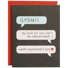 Can't Be Abbreviated Valentine Card, Text Message – Print&Paper