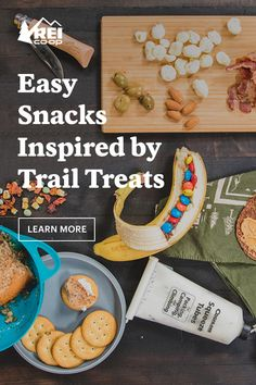 It's a shame to relegate these tasty trail snacks to the backcountry, especially when simple, often shelf-stable creations can make at-home snacking a whole lot easier. Here are a few of our favorite, easy-to-make snacks. Camping Recipes, Camping Meals, Moon Cheese, Easy To Make Snacks, Protein Packed Snacks, Veggie Chips, Chocolate Powder, Tasty Bites, Banana Split