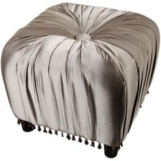 I pinned this Jennifer Taylor La Rose Ottoman from the Sunday Brunch event at Joss and Main! - Bring luxe Old Hollywood appeal to your next afternoon fete or evening entertainment with the gorgeous La Rose Ottoman from Jennifer Taylor, showcasing sumptuous silken upholstery with a button tuft and tassel fringe.