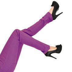 Bleeding Heart Jeans - Purple Low Rise Skinny Fit Trousers - Slim Stretch Denim - Size 10