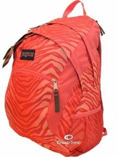 """Jansport Wasabi Backpack 15"""" Laptop Pink Prep Coral Sparkle Flashback Zebra Girl #OrlandoTrend #Jansport #Backpack #Coral #Pink"""