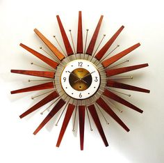 Check out this item in my Etsy shop https://www.etsy.com/listing/533417797/starburst-clock-by-forestville-mid