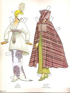 Great Fashion Designs of La Belle Époque  Paper Dolls by Tom Tierney - Dover Publications, Inc.,1982: Plate 14 (of 16)