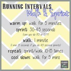 {WIOW} - How I Make Running Fun: Running Intervals - Walk & Sprint. Love this workout!