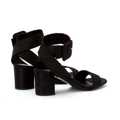 Xabell Satin Sandal Black Black Silk, Silk Satin, Black Sandals, Bag Making, Block Heels, Dust Bag, Leather, How To Wear, Bags