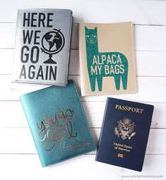 DIY Leather Passport Covers made with Cricut CricutMade Cricut ad travel diy leatherwork vacation 740349626224629207 Travel Crafts, Leather Projects, Leather Crafts, Cricut Tutorials, Cricut Ideas, Passport Cover, Cricut Creations, Vinyl Projects, Craft Projects