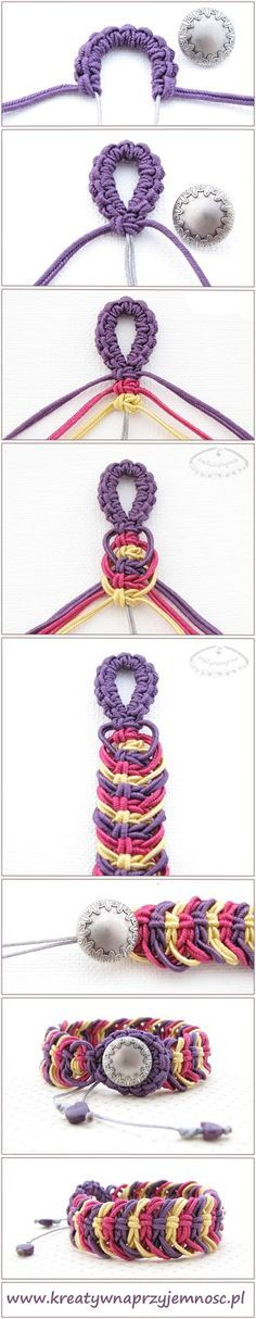 Great tutorial on macrame bracelet!
