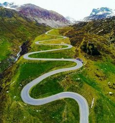 Twisties with a view. Photo of Julier Pass in Switzerland by . (at Julier Pass) Places To Travel, Places To See, Places Around The World, Around The Worlds, Beautiful World, Beautiful Places, Destinations, To Infinity And Beyond, Travel Goals
