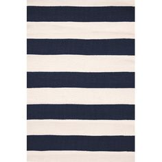Catamaran Hand Woven White/Blue Area Rug | Wayfair
