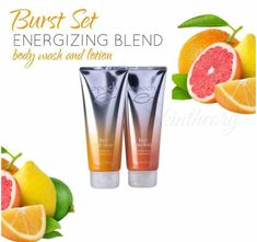 Epoch Body Gift Set    These limited editions are perfect gifts to spoil your body and your senses. They will leave your skin feeling soft, smooth and delicately scented.  Epoch Sunshine Gift Set limited edition set contains one Epoch Sunshine Body Wash and one Epoch Sunshine Body Lotion. While your senses get delighted with the refreshing scent of citrus and mint, your skin is gently cleansed, hydrated and left feeling very smooth.  Inbox me for inquiries