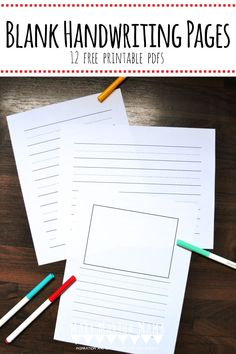 Does your kiddo need to work on handwriting? Use these 12 different styles of blank handwriting sheets to help your child practice. Handwriting Sheets, Teaching Handwriting, Neat Handwriting, Handwriting Activities, Handwriting Practice, Kid Activities, Educational Activities, Teaching Kindergarten Writing, Some Sentences