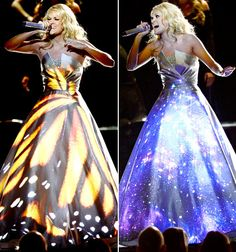 Carrie Underwood performing at the 55th Annual Grammy Awards on February 10, 2013.