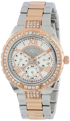 GUESS Women's #U0111L4 Analog Display Quartz Two Tone Watch