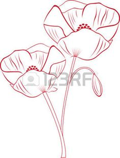 Vector Capture the exotic beauty of Poppy flowers with this design by Embroidery patterns! photoCapture the exotic beauty of Poppy flowers with this design by Embroidery patterns! Doodle Drawings, Easy Drawings, Doodle Art, Poppy Drawing, Floral Drawing, Fabric Painting, Painting & Drawing, Poppies Tattoo, Exotic Flowers
