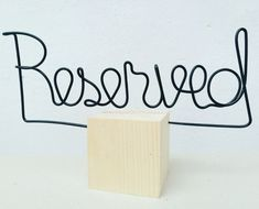 Reserved | wood cube, wire & acrylic | web: www.artbending.ro