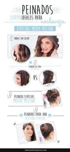 Peinados paso a paso on pinterest cabello largo media - Peinados de fiesta media melena ...