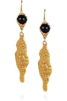 YVES SAINT LAURENT Gold-plated stingray-effect earrings $395