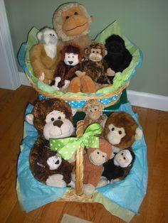Monkey Baby Shower Centerpieces :)