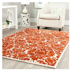 Porcello Burnt Red & Ivory Rug