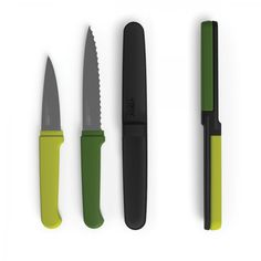 Joseph Joseph Twin Slice | Two knives in one compact knife set.