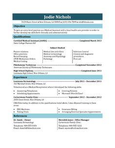 Resume Templates | medical assistant resume samples Medical ...