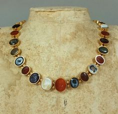 Ancient Roman intaglio necklace