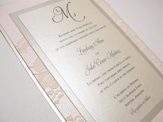 Elegant Rustic Shabby Chic Vintage Blush Champagne Gold Ivory Invitations Wedding Invitations Photos & Pictures - WeddingWire.com