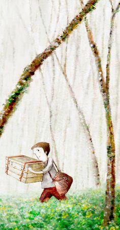 Una cassetta nel bosco