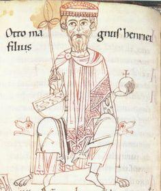 Ottone I di Sassonia in una miniatura medioevale