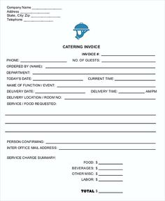 Catering Invoice Template Excel Custom General Invoice Form  Generic Invoice Template  Choose The Right .